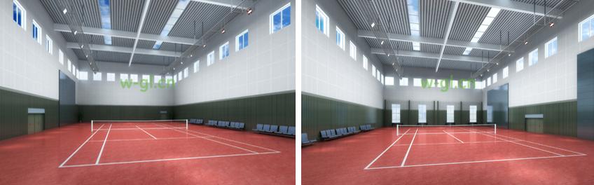 室内网球球场照明效果示例二