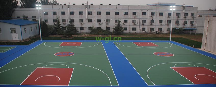 wgl室外篮球场优质球场灯光配置设计方案