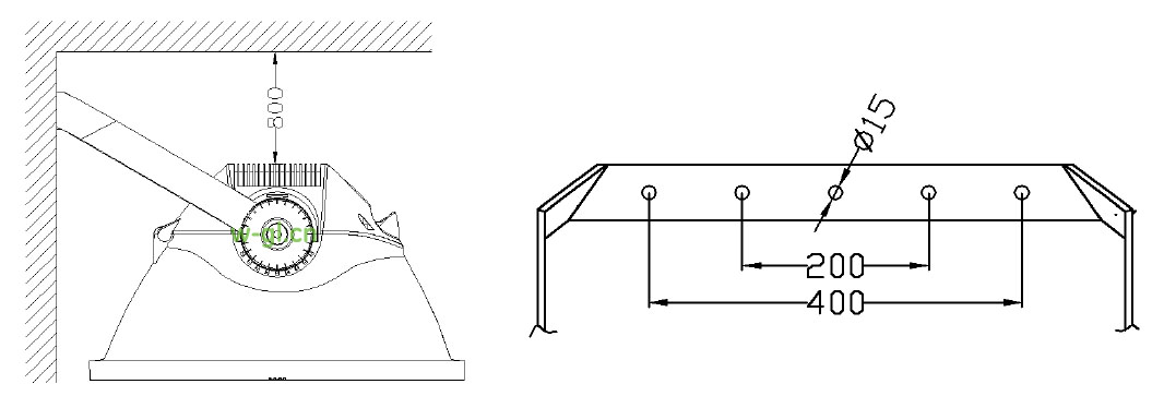 室外球场投光灯具安装2
