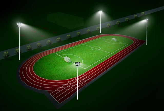 足球场灯光照明系统大功率金卤灯投光灯