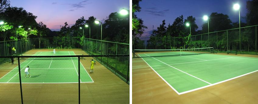 室外网球场照明设计 室外网球场灯光布置